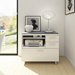 BDI Centro Multi-Function Contemporary White + Gray Cabinet