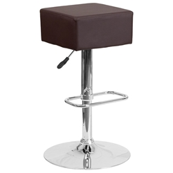 Century Modern Adjustable Barstool in Brown