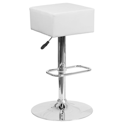 Century Modern Adjustable Barstool in White