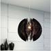 Chance Black Acrylic + Thread Modern Hanging Lamp
