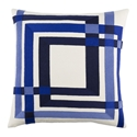 "Chandler 18"" Blue Modern Pillow"