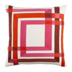 "Chandler 22"" Red Modern Pillow"