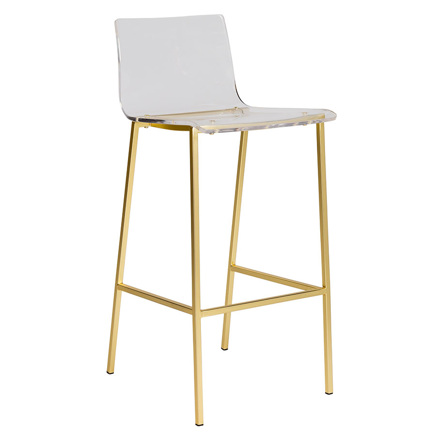 Chloe Modern Gold Stool By Euro Style Eurway