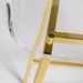 Chandler Clear Acrylic + Gold Modern Counter Stool