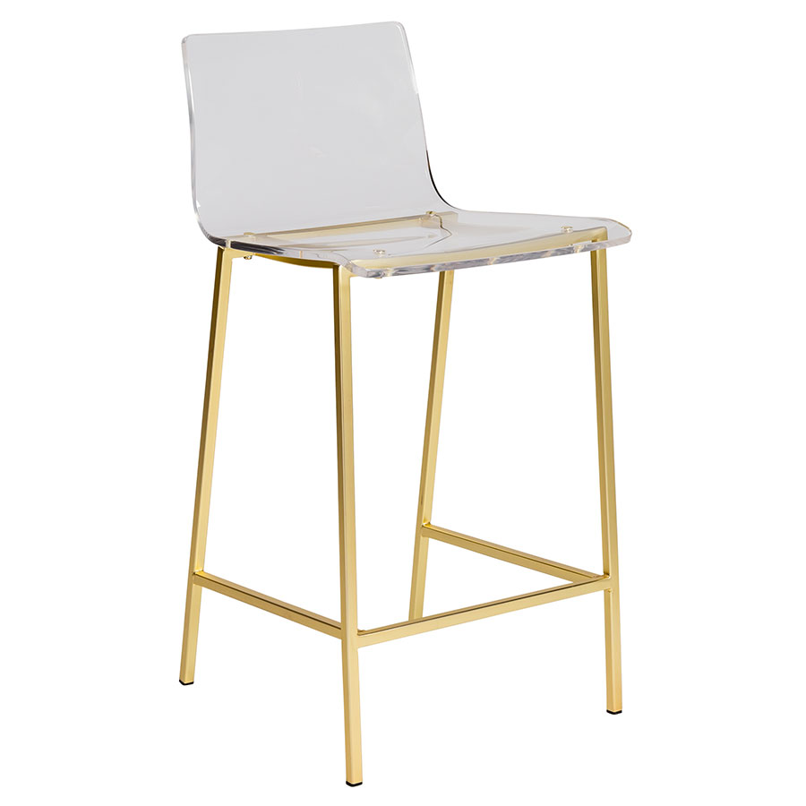 Modern Counter Stools Chandler Gold Base Stool Eurway