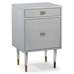Chaney Modern Gray Nightstand