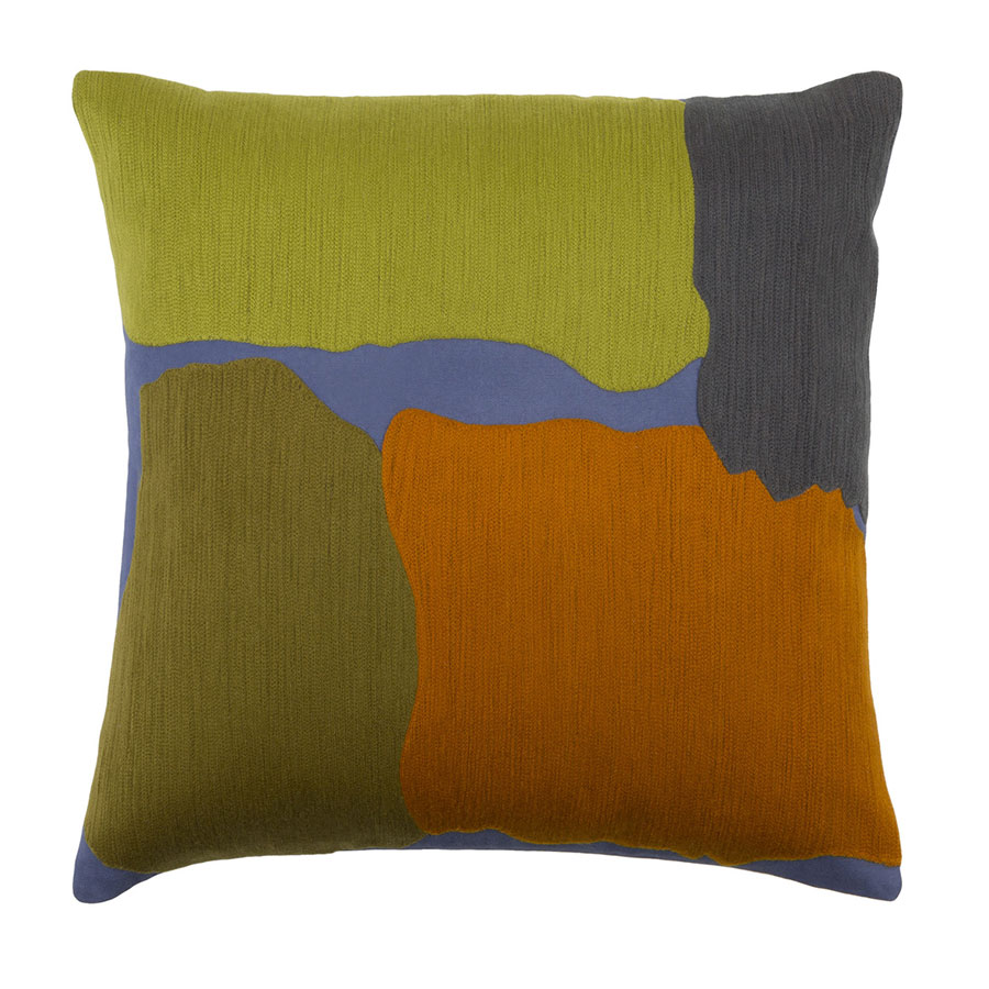 "Charity 22"" Lime + Blue Modern Pillow"