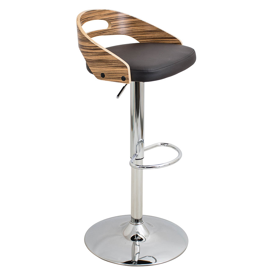 Charleen Brown Adjustable Modern Stool