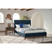 Charlene Contemporary Blue Fabric Platform Bed