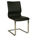 Charlie Modern Black + Walnut Dining Chair