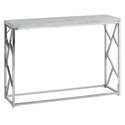 Chaves Modern Cement & Chrome Console Table