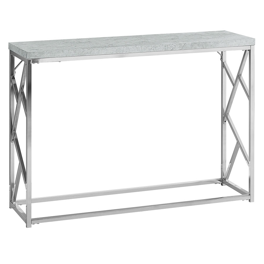 Furniture of america chaves contemporary 3 piece sofa set - Chaves Modern Cement Chrome Console Table
