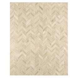 Modloft Black Chevron 8x10 Beige Hide Modern Rug