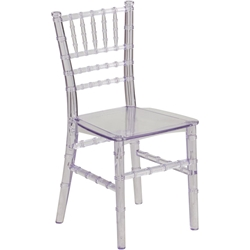Chiavari Contemporary Kids Chair Clear