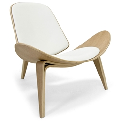 Chicago Classic Modern Chair in White and Oak