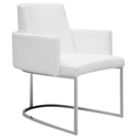 Chichi White Modern Dining Armchair