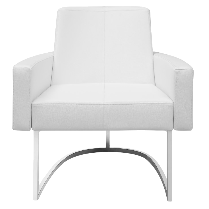 ... Chichi White Contemporary Lounge Chair ...
