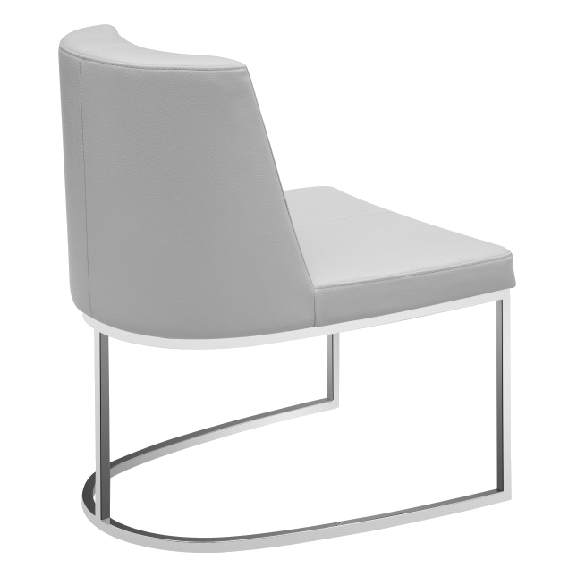 Chichi Taupe Leatherette + Metal Modern Dining Side Chair