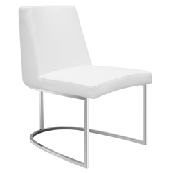 Chichi White Modern Dining Side Chair