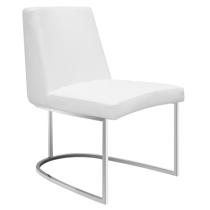 Charmant Call To Order · Chichi White Modern Dining Side Chair