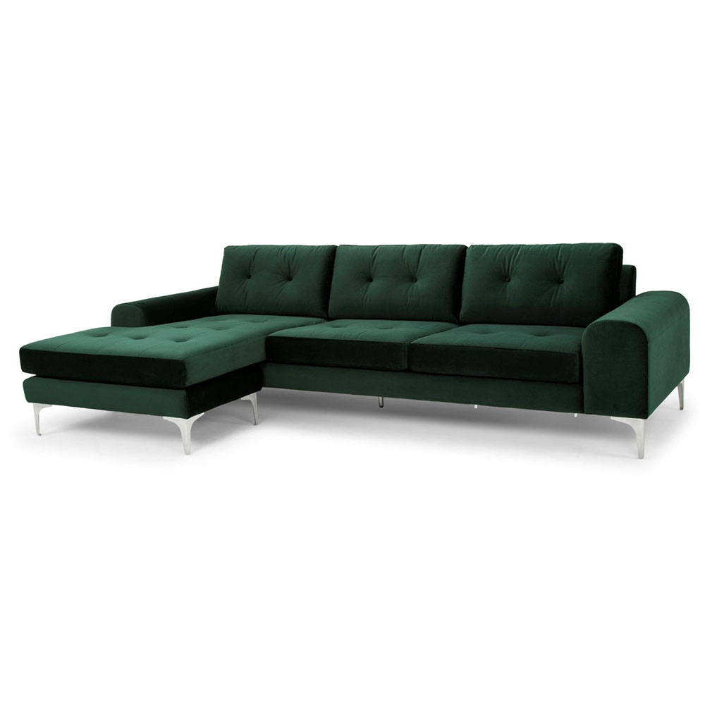 Modern Sectionals Chinook Emerald Green Sofa Eurway