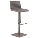 Christian Gray, Walnut + Gray Steel Modern Adjustable Stool