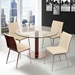 Christian Contemporary White + Walnut Side Chairs