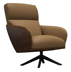 Christie Safair Leather Modern Lounge Chair