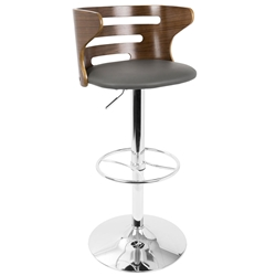 Christopher Modern Grey Adjustable Stool