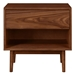 Christopher Modern Walnut Nightstand - Front View