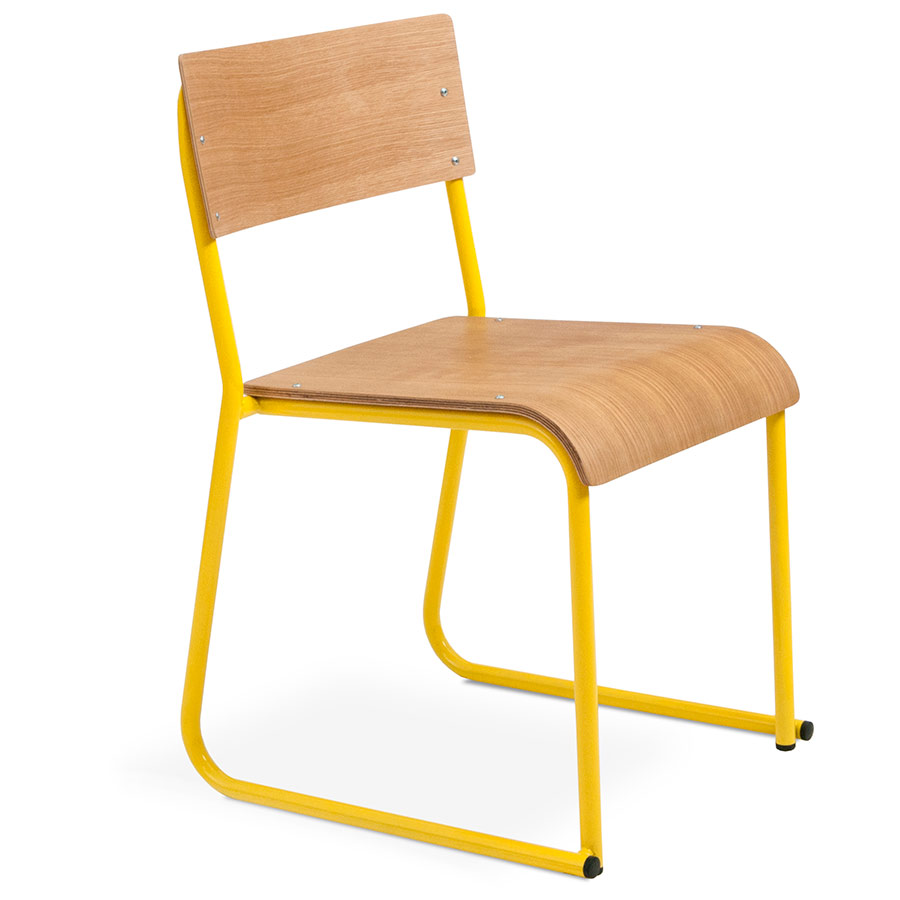 Church Contemporary Chair by Gus Modern in Canary and Natural Oak