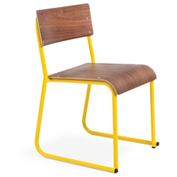 Church Contemporary Chair by Gus Modern in Canary and Walnut
