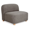 Gus* Modern Circuit Modular Modern Armless Chair / Sectional Unit in Bayview Osprey Fabric