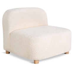 Gus* Modern Circuit Modular Modern Armless Chair / Sectional Unit in Himalaya Cloud Fabric