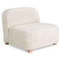 Gus* Modern Circuit Modular Modern Armless Chair / Sectional Unit in Huron Ivory Fabric