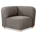 Gus* Modern Circuit Modular Modern Corner Sectional Unit in Bayview Osprey Fabric