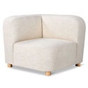 Gus* Modern Circuit Modular Modern Corner Sectional Unit in Huron Ivory Fabric