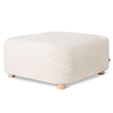 Gus* Modern Circuit Moular Ottoman in Huron Ivory Fabric