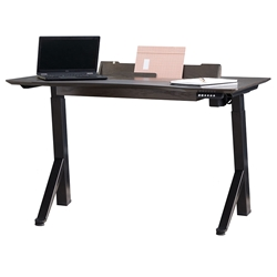 City Modern Standing Desk by Unique in Dark Brown