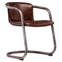 Clancy Cognac Mid Century Modern Rusticated Weathered Chair