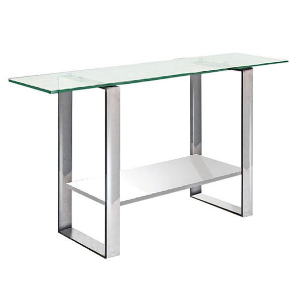 Clarence Glass + Metal Modern Console Table