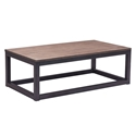 Clarice Rectangle Modern Industrial Coffee Table