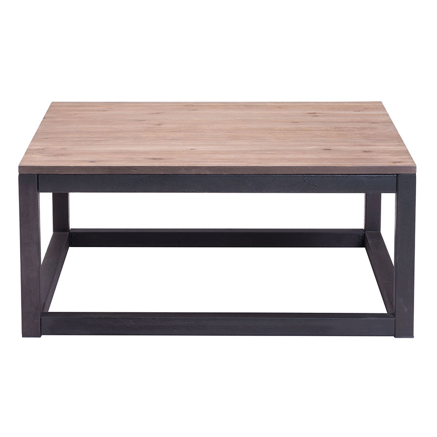 Clarice Contemporary Industrial Square Coffee Table