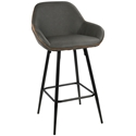 Clarion Modern Gray Counter Stool