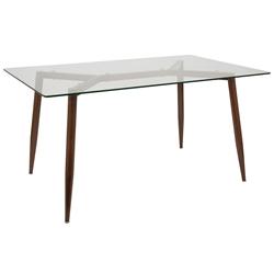 Clarissa Modern Dining Table in Brown