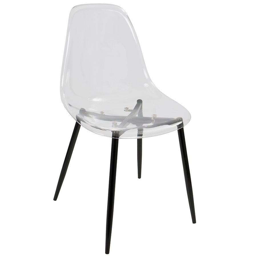 Clarissa Modern Clear Acrylic Side Chair