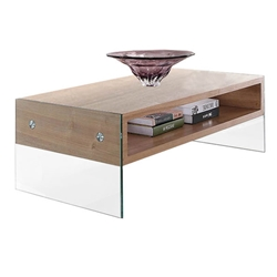 Clarksville Modern Glass Leg Coffee Table