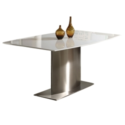 Claude Modern White Marble Dining Table