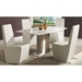Claude Contemporary White Marble Dining Table