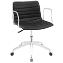 Clayton Modern Black + Chrome Low Back Office Chair